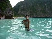 Snorkeller at Phi Phi Island